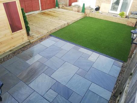 Artificial lawn installation and garden transformation in Guisborough