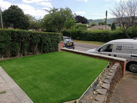 Artificial turf installation guisborough 30mm showhome look
