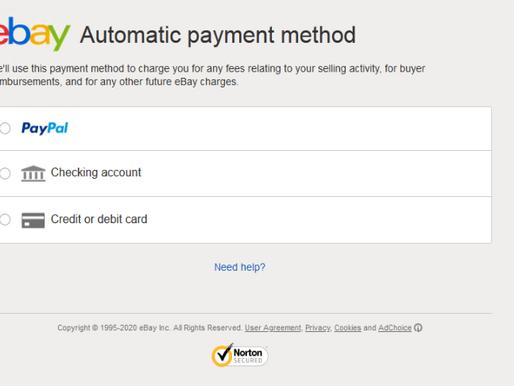 Làm thế nào để add phương thức thanh toán cho ebay us?