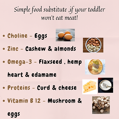 Simple food substitute, if your toddler won't eat meat!