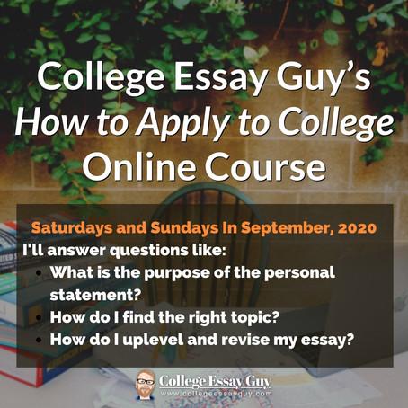 Free College Application Workshop