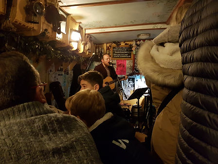 Richard Sutton, live and acoustic, on board The Albatros, Wells-Next-The-Sea