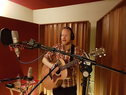Richard Sutton, recording at Half-Ton Studios, Cambridge