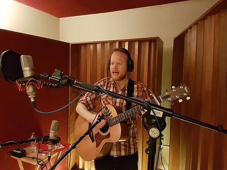 Richard Sutton recording at Half-Ton Studio, Cambridge