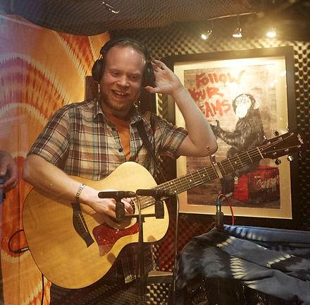 Richard Sutton, singer-songwriter, recording at Boogie Trap Studios, London