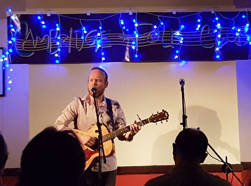 Playing at the Cambridge Folk Club