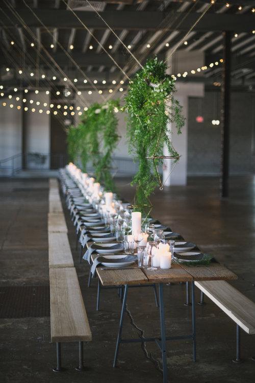 Mesa invitados en madera rectángular