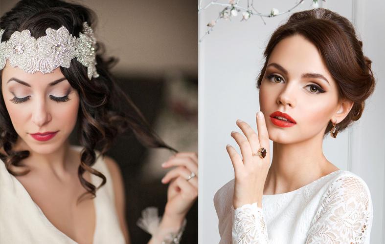 Maquillaje novia color rojo
