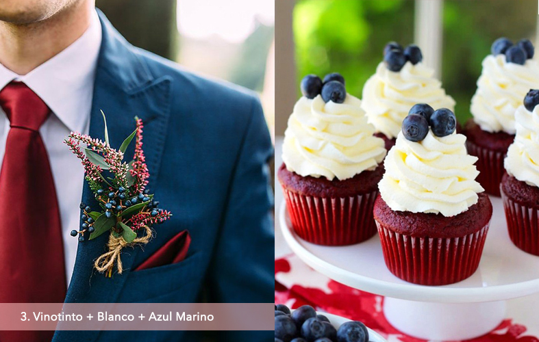 Paleta de Colores: Vinotinto + Blanco + Azul Marino