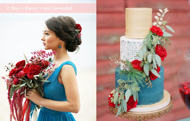 Paleta de Colores: Rojo + Blanco + Azul Serenidad