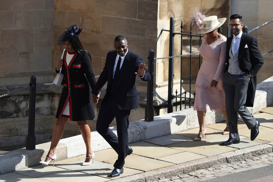 Idris Elba y Oprah Winfrey