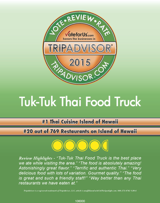 Voted #1 Thai Cuisine - YES!