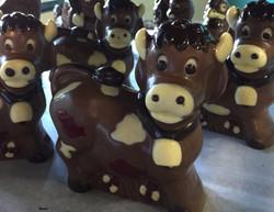 Vache en chocolat