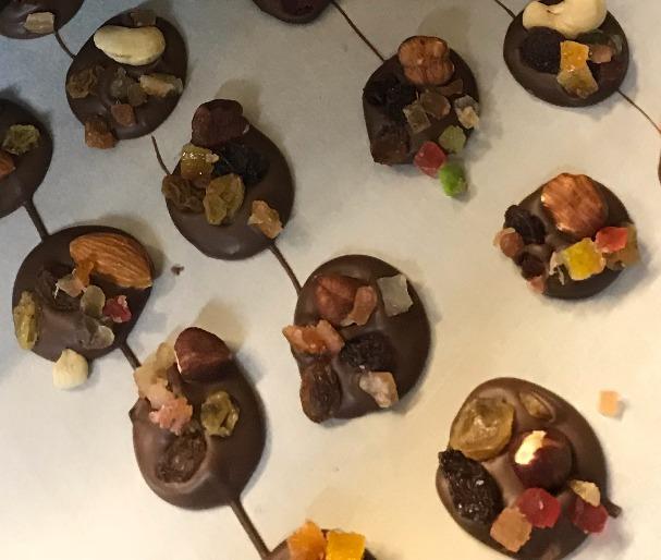 Mendiant chocolat noir