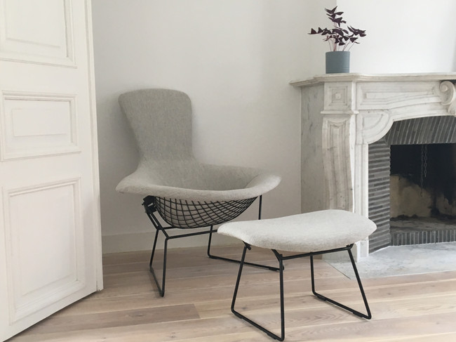 Bird lounge chair and ottoman Bertoia