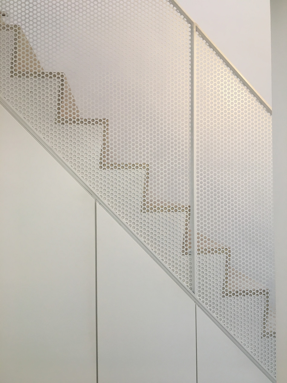 stairs perforated metal