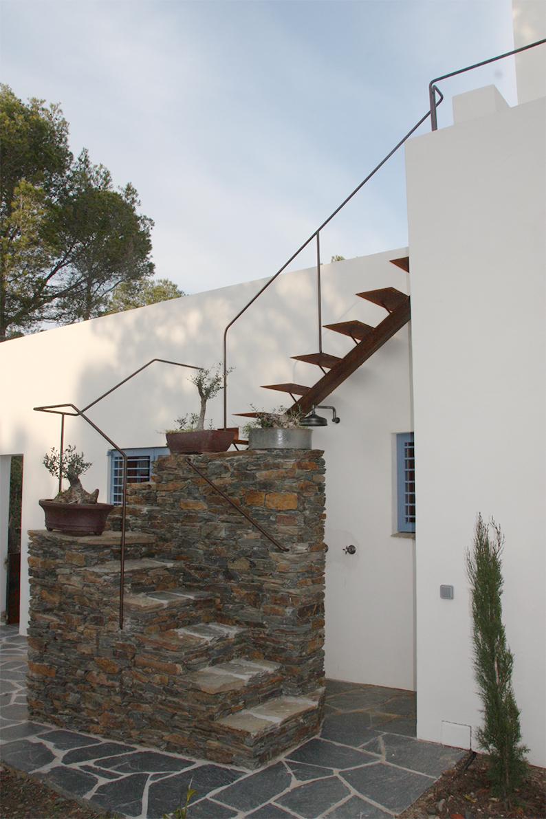 L'escalier pour le toit terrasse