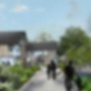 Densification coeur de village, habitats collctifs, jardins partagés, parc et crêche