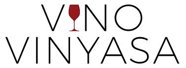 vino vinyasa yoga and wine logo
