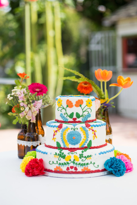 latin inspired wedding cake