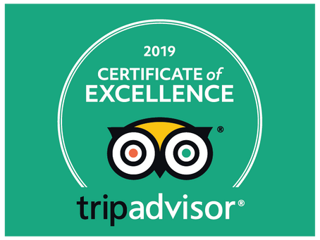 Tripadvisor - Certificate of Excellence - 2019