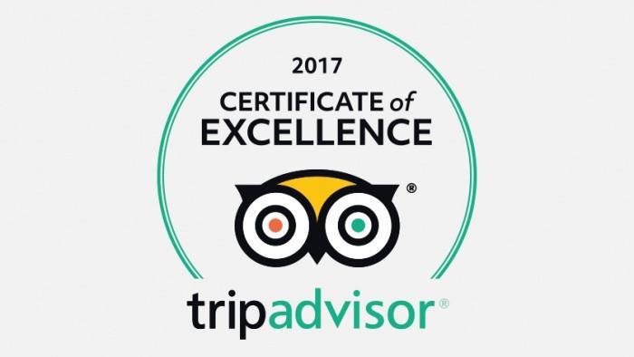 TripAdvisor Certificate of Excellence 2017! Test teamet ditt i dag!