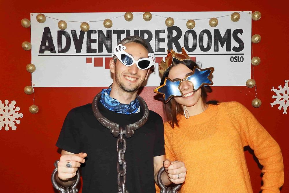 2 deltakere på AdventureRooms Oslo
