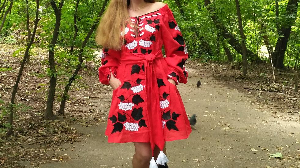 """Сукня """"Калина"""" міні червона"""