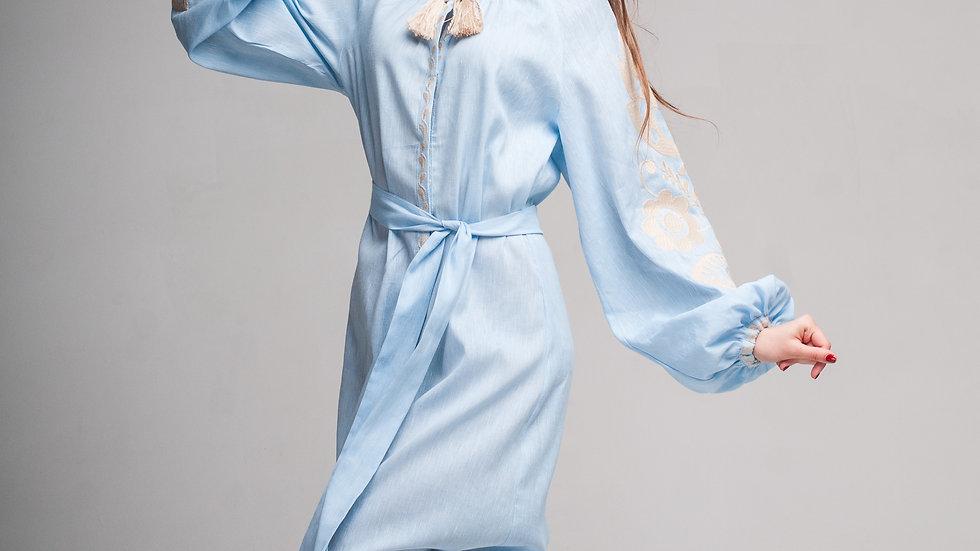 "Сукня ""Ружа"" блакитна максі"