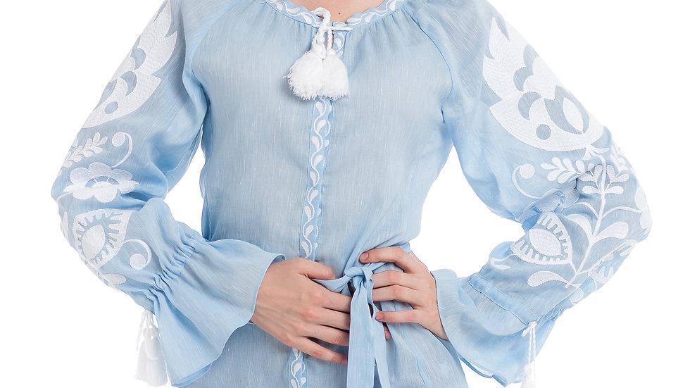 "Сукня ""Ружа"" блакитна міні"