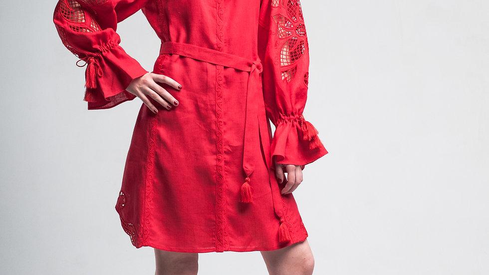 """Сукня  """"Дивоквітка"""" червона міні"""