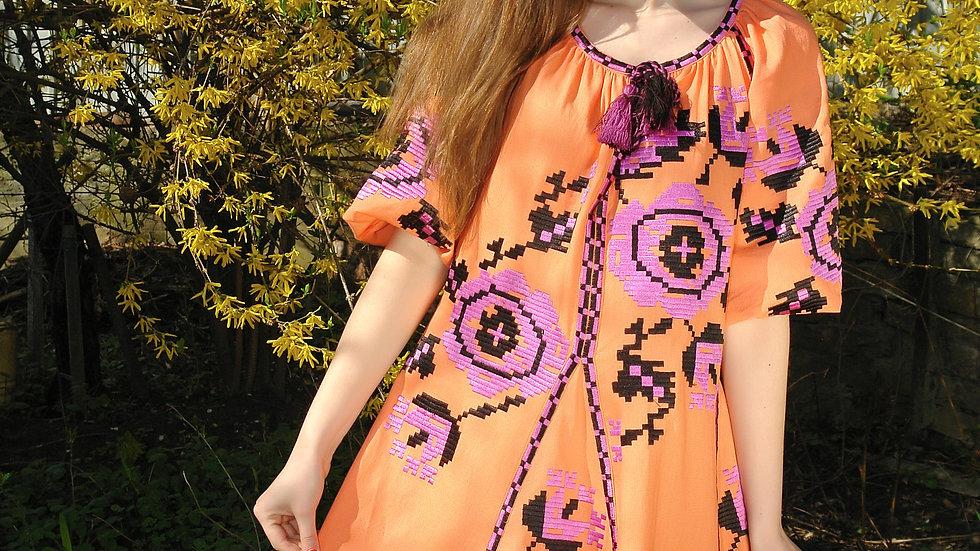 Сукня етнічна помаранчева