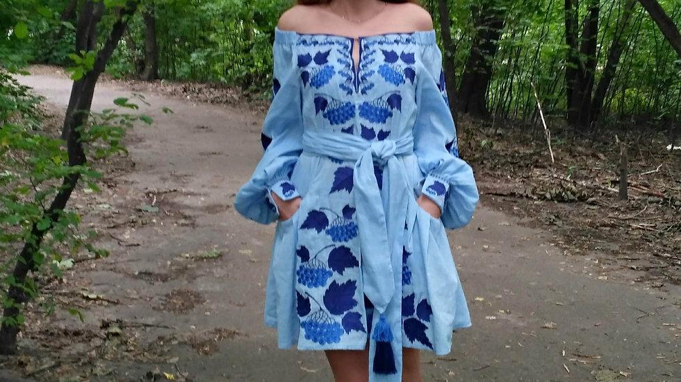 """Сукня """"Калина"""" міні блакитна"""