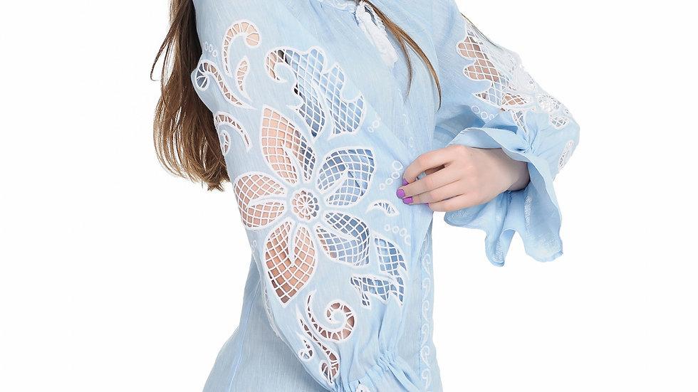 """Сукня  """"Дивоквітка"""" блакитна міні"""