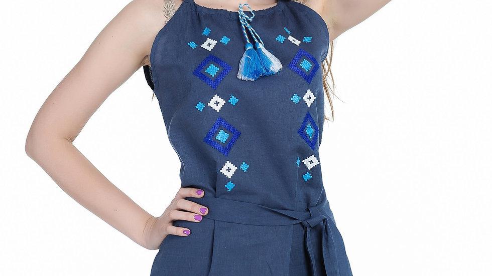 Сарафан синій