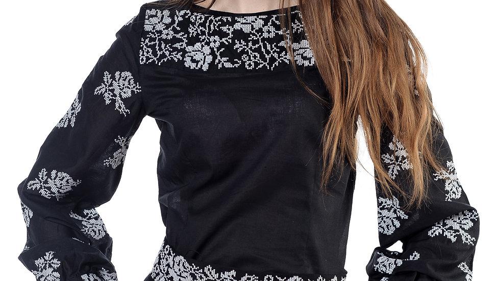 Блузка чорна