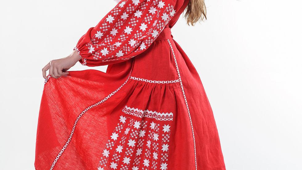 """Сукня """"Starry night"""" міді червона"""
