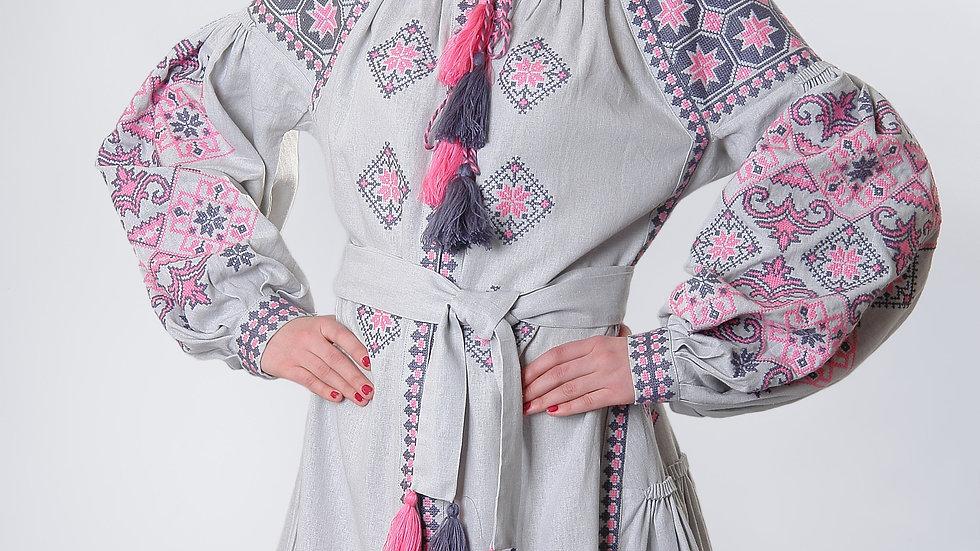 Сукня етнічна сіра