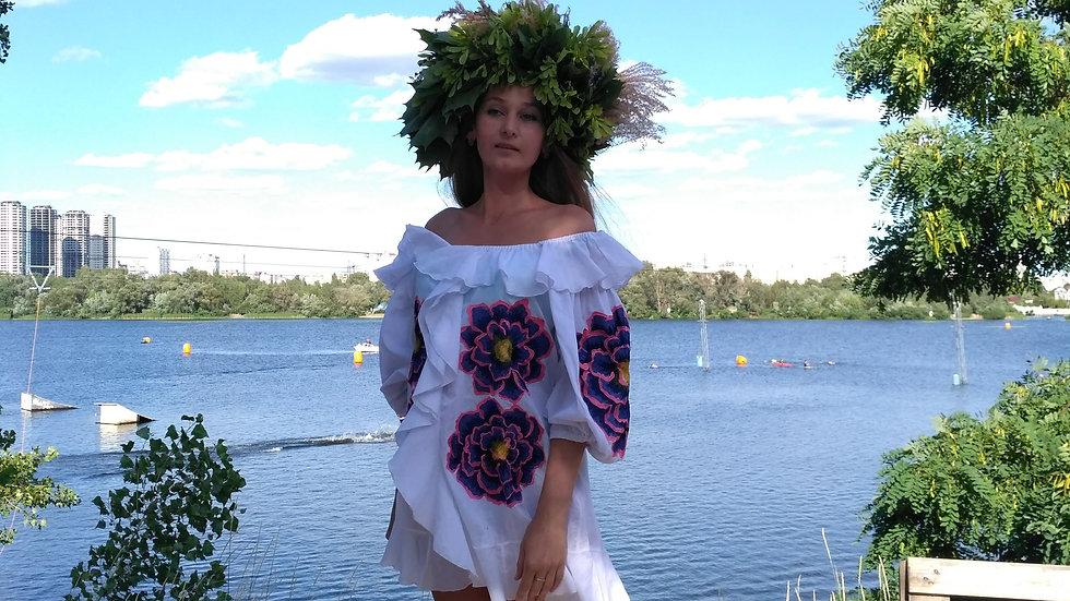 Сукня з воланами міні
