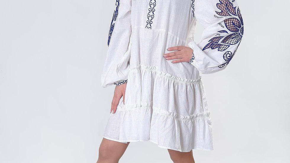 """Сукня  """"Дивоквітка"""" біла міні"""