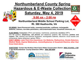 Northumberland Hazardous & E-Waste Collection, May 4