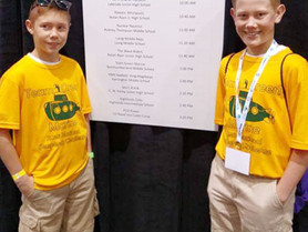 Middle School Scores at National SeaPerch Challenge