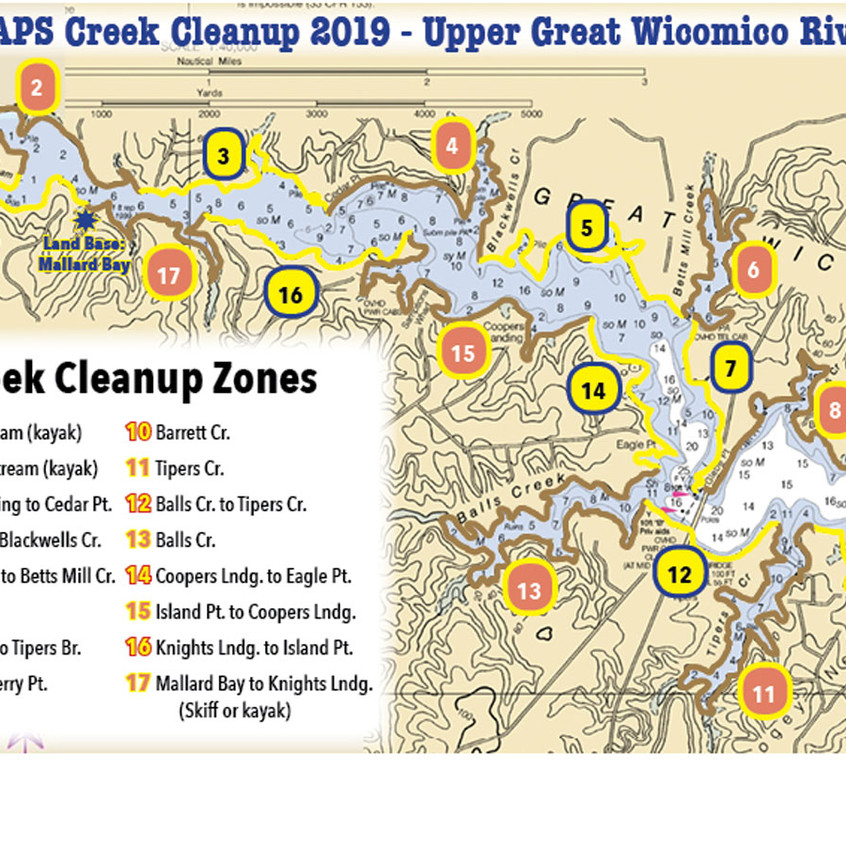 2019 Creek Cleanup Zones