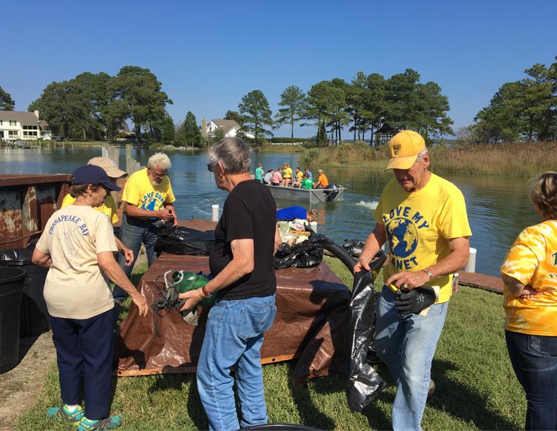 Volunteers Work the Sorting Table