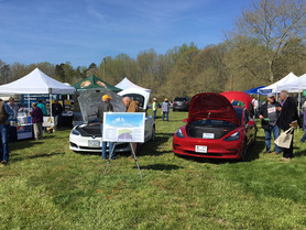 'It's Electric' – Earth Day EV Exhibit Draws a Crowd