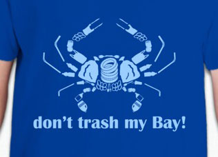 """Don't Trash My Bay!"" T-shirt"