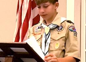 NAPS Supports Eagle Scout Bridge Project