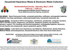Hazardous Waste & Electronics Collection, Sat. May 5 at NMS