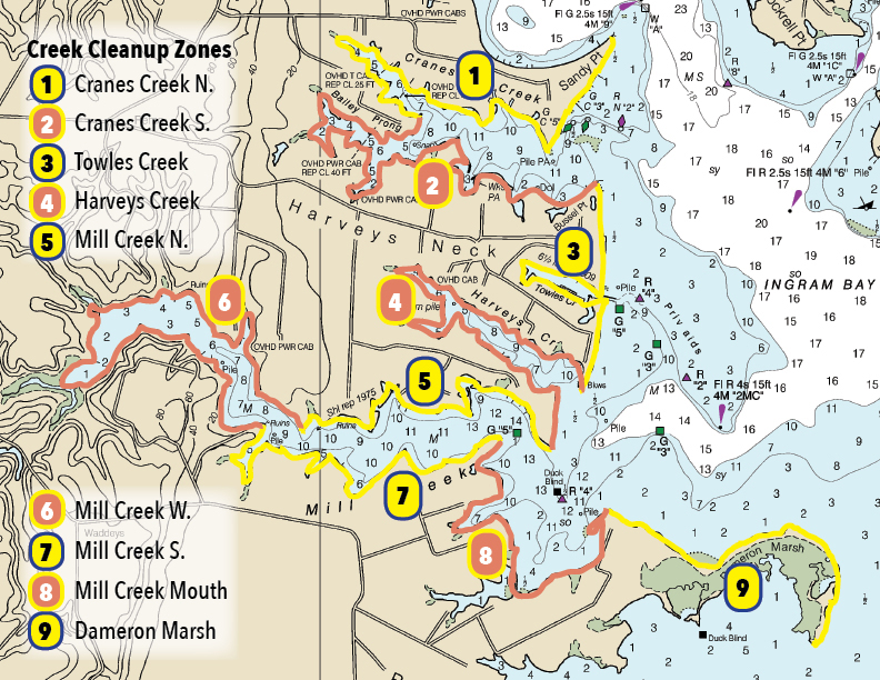 NAPS 2018 Creek Cleanup Zone Map