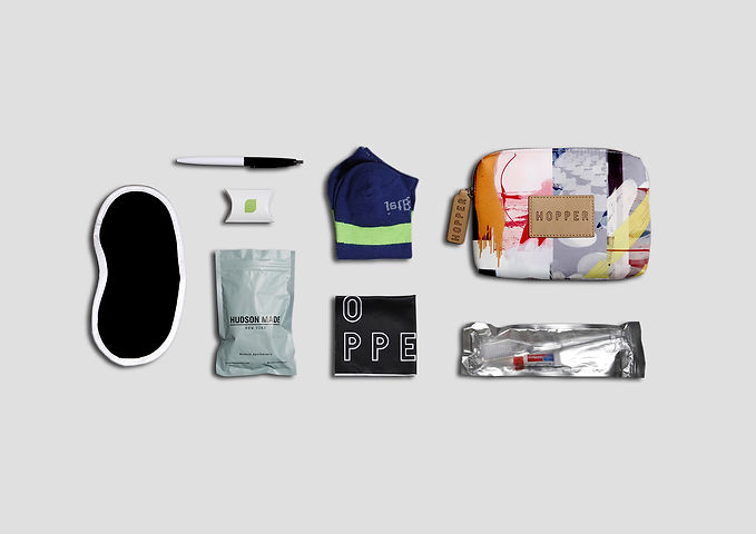 clip jetblue hayward hopper amenity kit